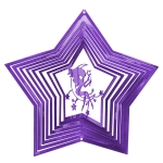Purple fairy wind spinner 8""