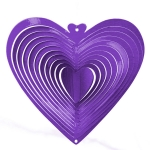 Purple heart wind spinner 8""