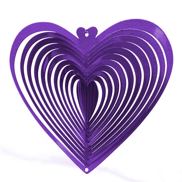 Purple Heart Wind Spinner 12 Quot