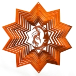 Copper kokopelli wind spinner 8""