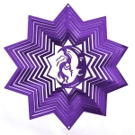 Purple kokopelli wind spinner 8""