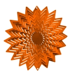 Copper splash wind spinner 8""