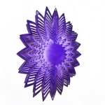 Purple splash wind spinner 8""