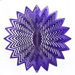 Purple splash wind spinner 12""