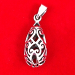 Filigree Teardrop Pendant