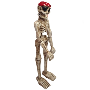 Freestanding Pirate Skeleton Figurine
