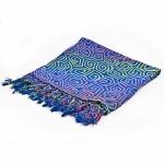 Blue Squares sarong