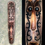 Mask with Black Aboriginal Carving*