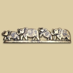 4 Elephants (Gold)