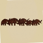 5 Elephant wallhanging (dark wood)