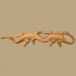 2 Geckos (light wood)