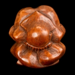 Single carved wooden weeping Buddha