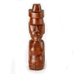 Moai statue wood carving