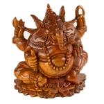 Carved wooden Ganesha