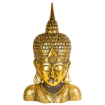Gold painted wooden Buddha head