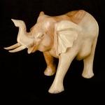 Walking elephant wood carving (large)