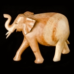 Walking elephant wood carving (medium)