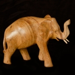Walking elephant wood carving (small)