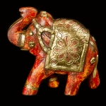 Painted wooden elephant