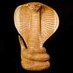 Cobra wood carving