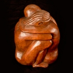 'The Lovers' wood carving