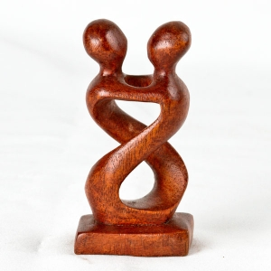 'Heart To Heart' wood carving