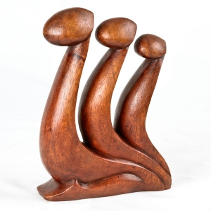'Family Unity' wood carving